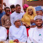 President Buhari Breaks Fast With Small Doctor, Sound Sultan, Tania Omotayo, #BBNaija's Tobi