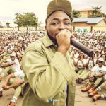 NYSC Orientation Camp Agog as Davido Arrives, Puts Up a Show